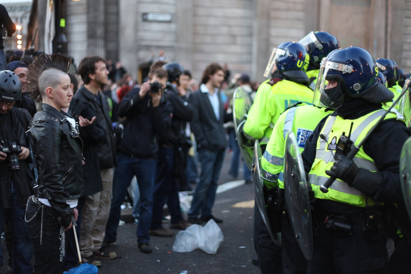 London-protests-police-officers-injured